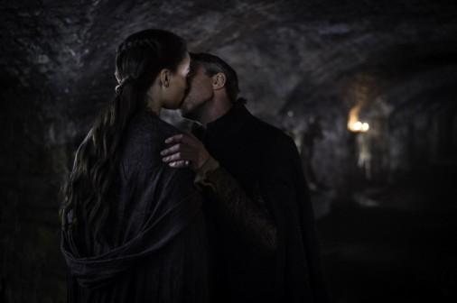 Sansa Stark and Littlefinger pash in Episode 4, Season 5 of HBO's Game of Thrones