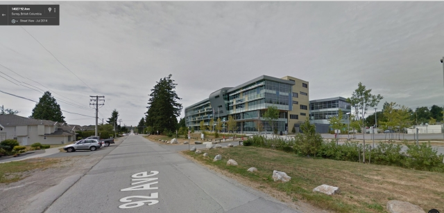 Which is really a school administration building in Surry, BC, Canada, where your zombies are cheaper.