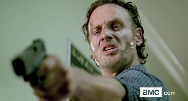 Who is Rick yelling at in season 6 of The Walking Dead?