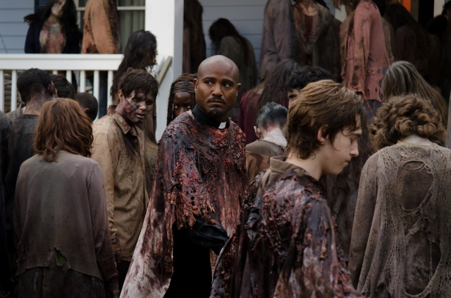 Seth Gilliam as Father Gabriel - The Walking Dead _ Season 6, Episode 8 - Photo Credit: Gene Page/AMC