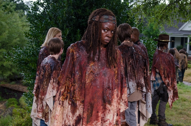 Danai Gurira as Michonne - The Walking Dead _ Season 6, Episode 9 - Photo Credit: Gene Page/AMC