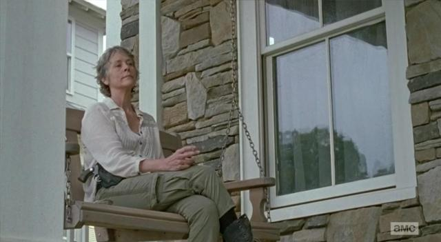 "Melissa McBride stars as Carol Peletier in EPisode 14 (""Twice As Far"") Season 6 of AMC's The Walking Dead"