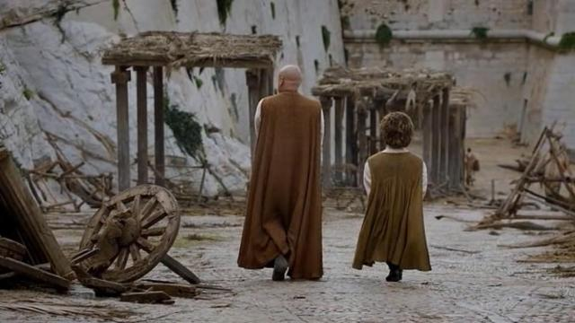 HBO Game of Thrones Season 6 Episode 1 The Red Woman Tyrion and Varys walking