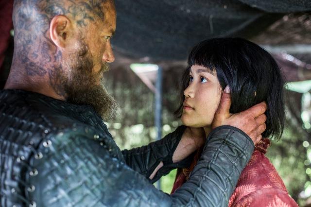 Vikings Season 4 Episode 7 Ragnar (Travis Fimmel) and Yidu (Dianne Doan)