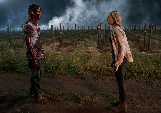 AMC's Fear The Walking Dead Season 2 Episode 7 Shiva Madison and bloody Nick
