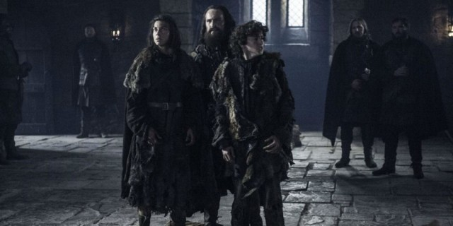 Osha and Rickon Stark appear in Episode 3 of HBOs Game of Thrones Season 6