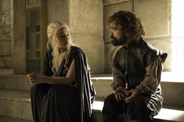 HBO's Game of Thrones Season 6 Episode 10 The Winds of Winter Daenerys Targaryen and Tyrion Lannister Credit Helen Sloan