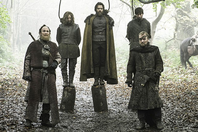HBO's Game of Thrones Season 6 Episode 8 No One Lem Lemoncloak in a noose