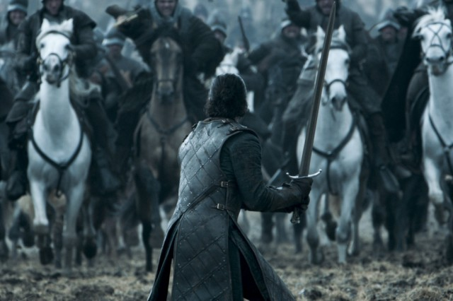 HBO's Game of Thrones Season 6 Epsiode 9 Battle of the Bastards Jon Snow faces Ramsay Bolton's army
