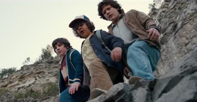Netflix's Stranger Things Season 1 Episode 6 The Monster Dustin and the bullies at the quarry