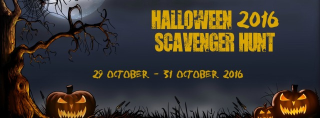 Author Halloween Scavenger Hunt 2016 Banner