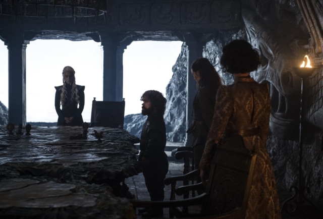 HBO's 'Game of Thrones,' spin-off, Season 7, Episode 2, Stormborn, Emilia Clarke as Daenerys and Peter Dinklage as Tyrion