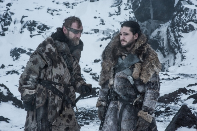 HBO's 'Game of Thrones,' Season 7, Episode 6, 'Beyond the Wall,' Beric Dondarrion and Jon Snow