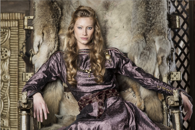 Aslaug as portrayed by Alyssa Sutherland in History Channel's 'Vikings'