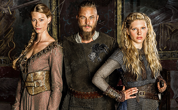 Aslaug, Ragnar, and Lagertha, as portrayed in History Channel's 'Vikings'