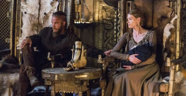 Ragnar and Aslaug, as portrayed in History Channel's 'Vikings'