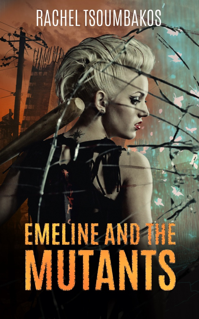 New cover design for 'Emeline and the Mutants' by Rachel Tsoumbakos