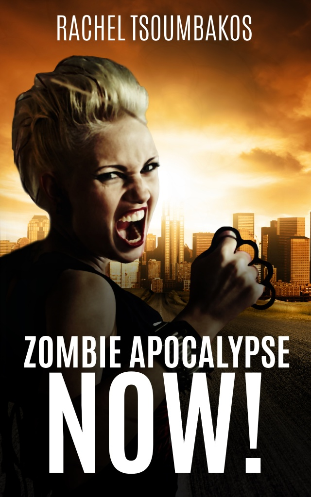 New cover design for 'Zombie Apocalypse Now!' by Rachel Tsoumbakos